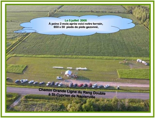 Vue aérienne de notre site.